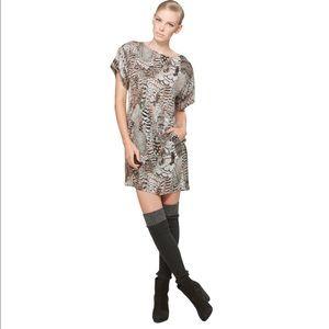 Rag & Bone Silk Dalmeny Dress in Feather Print